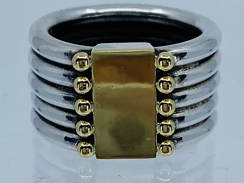 ref-KAJMR 71  Gold and silver ring