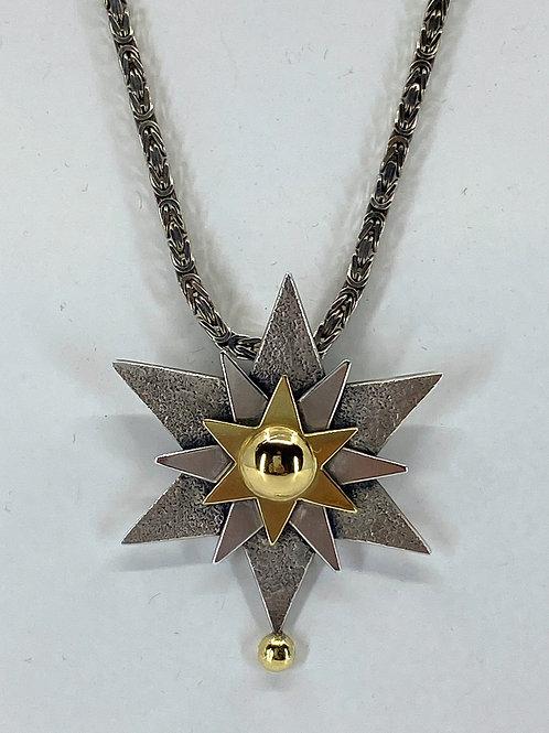 ref KAJMN 28   Three Star pendant & Chain