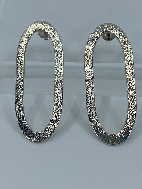 KAJME 28  Large sterling silver earrings with hammered texture
