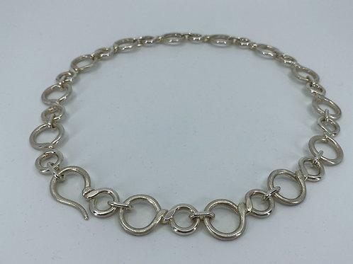ref-KAJMN 68.  Heavy silver handmade twist link chain