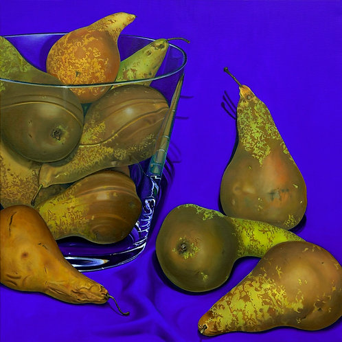 """Pears""   oil on linen"
