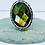 Thumbnail: ref-KAJMR 80 Chequerboard facetted Labradorite ring