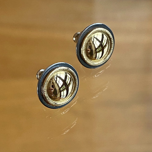 KAJME 24  Silver and 18ct gold studs