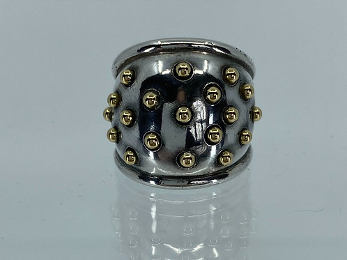 ref-KAJMR65 Silver domed ring