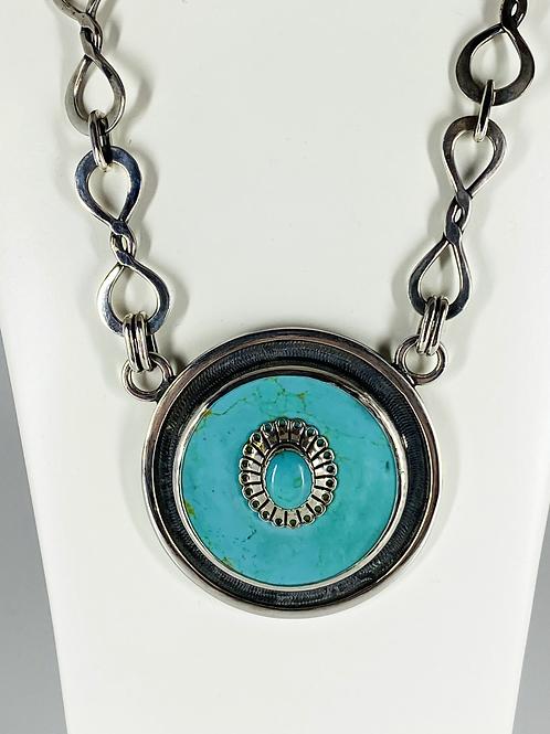 ref-KAJMN 73 Turquoise pendant necklace