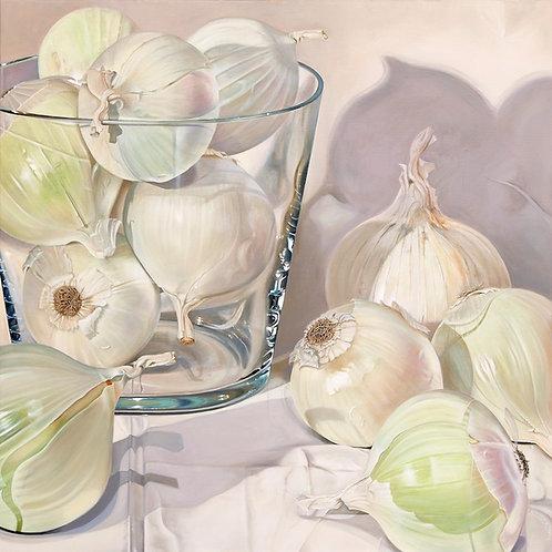 """White Onions""  oil on linen"