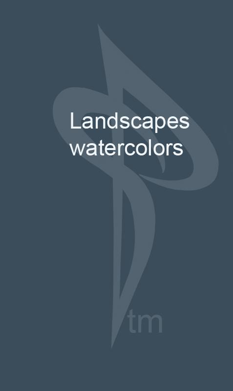 landscapes watercolors