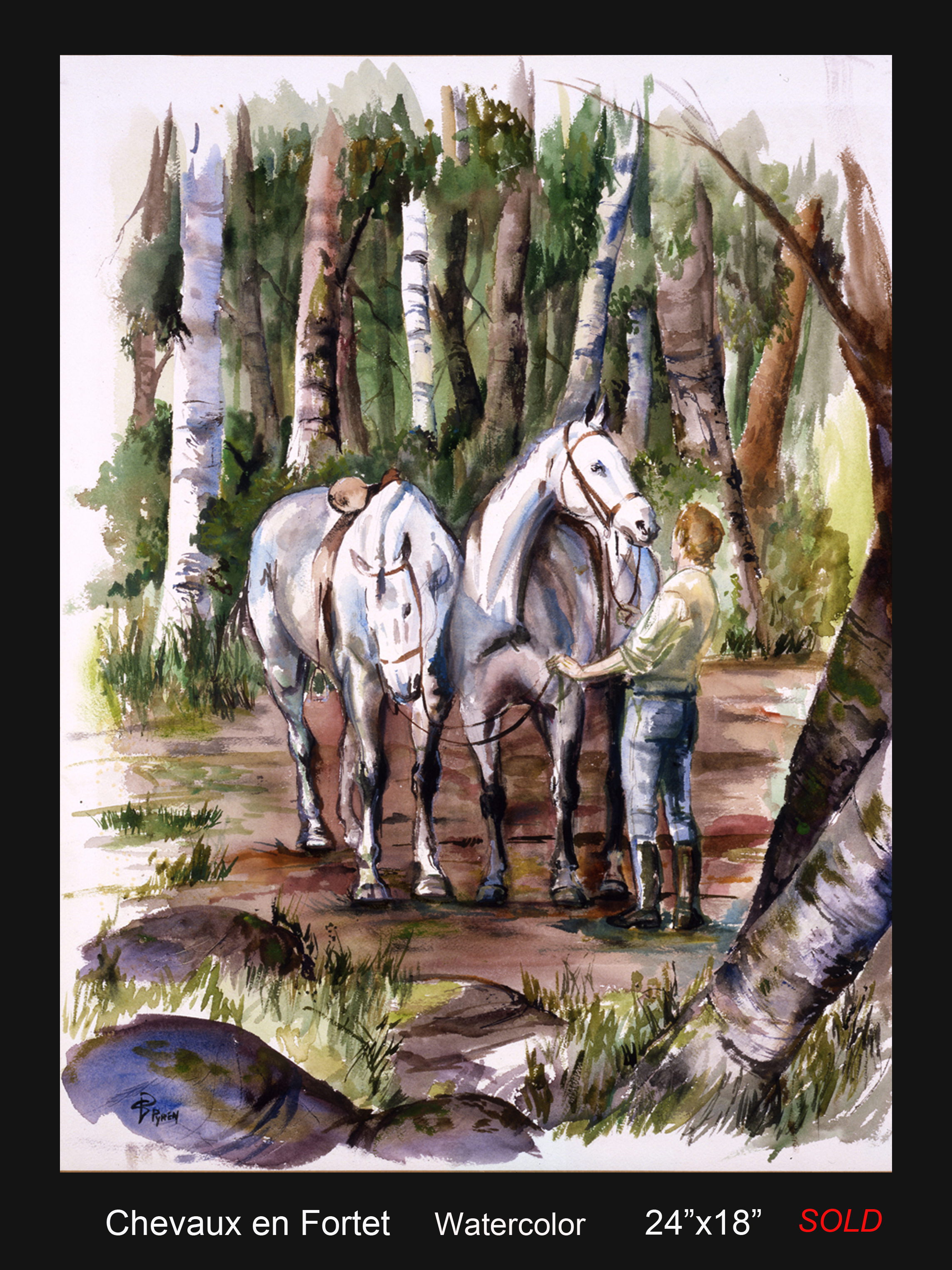 Chevaux en Forest copy