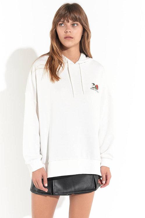 Chaos Maker Kapüşonlu Oversize Sweatshirt