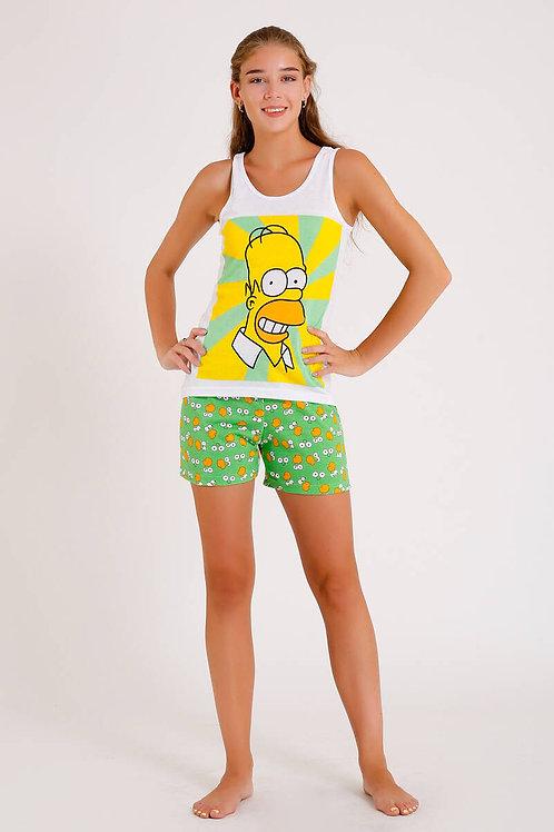 Homer Simpson Baskılı İkili Takım