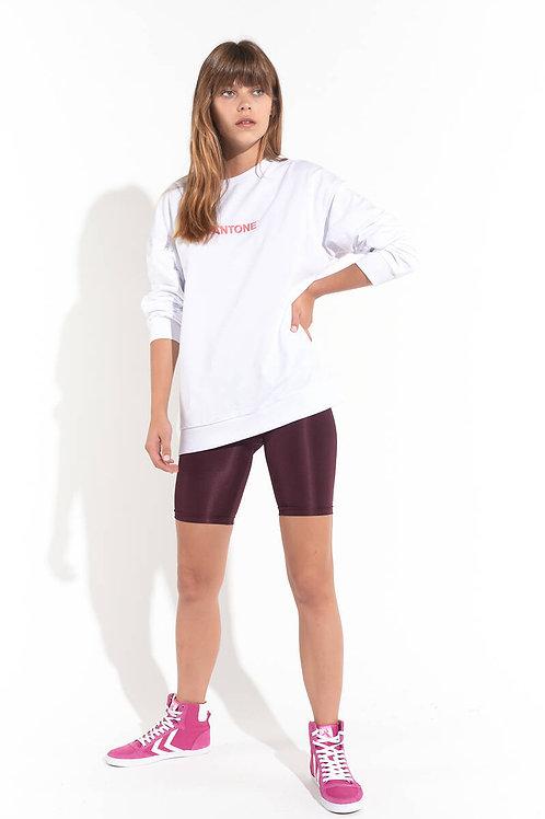 Ön Arka Baskılı Oversize Sweatshirt