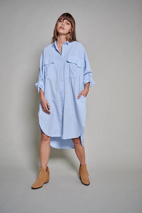 Uzun Oversize Elbise Gömlek