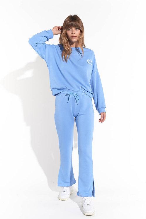 Athletique Clup Baskılı Oversize Sweatshirt
