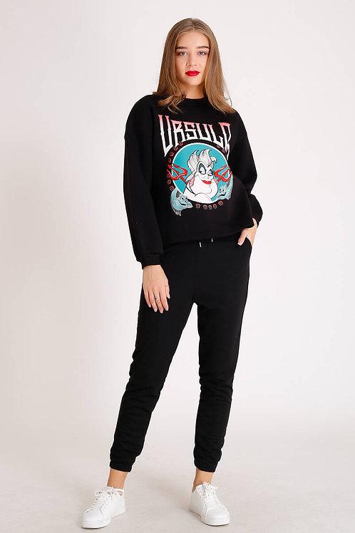 Ursula Basklı Sweatshirt