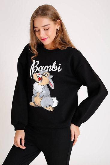 Bambi Baskılı Sweatshirt