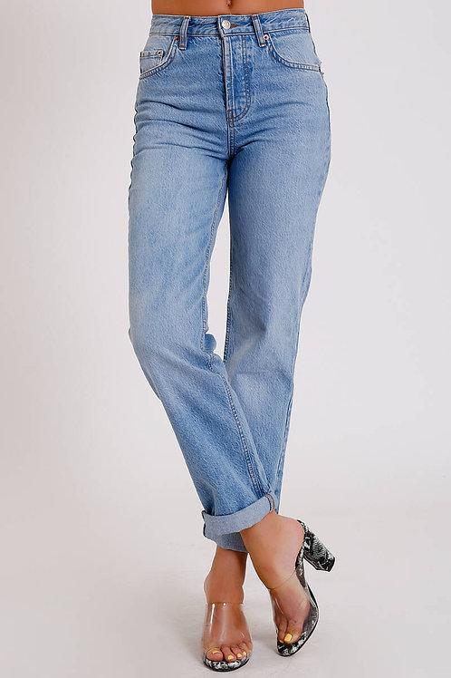 Yüksel Bel Kadın Jean Pantolon