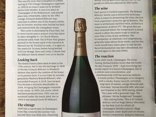 Billecart-Salmon features in the Wine Legends spot in Decanter Magazine, January 2021