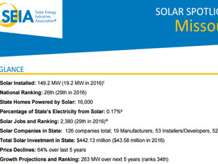 Solar power is less than 1 percent of Missouri's electricity generation