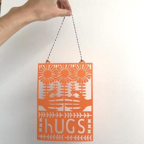 HUGS papercut