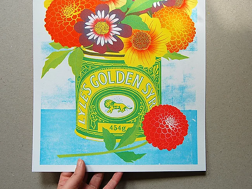 Golden Syrup A3 Risograph Print