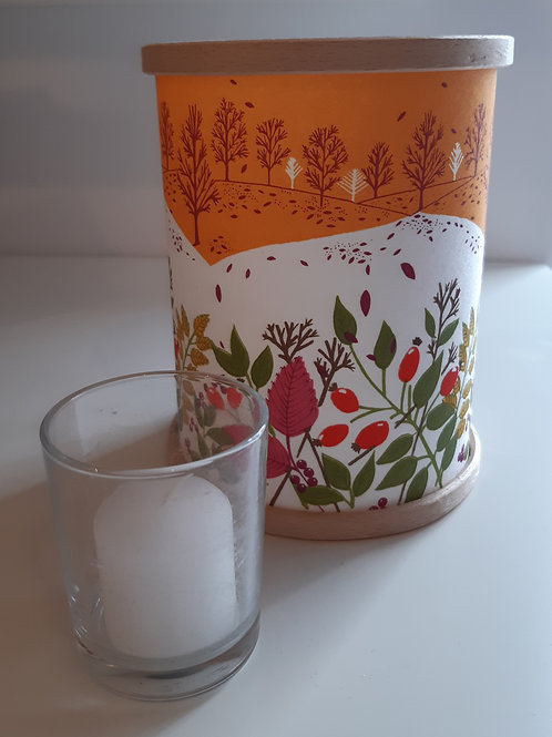 Hand Printed Lantern: Autumn Hedgerow