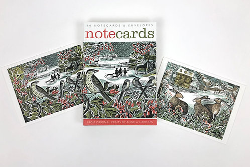 Holly Hedge & We Three Hares Notecards