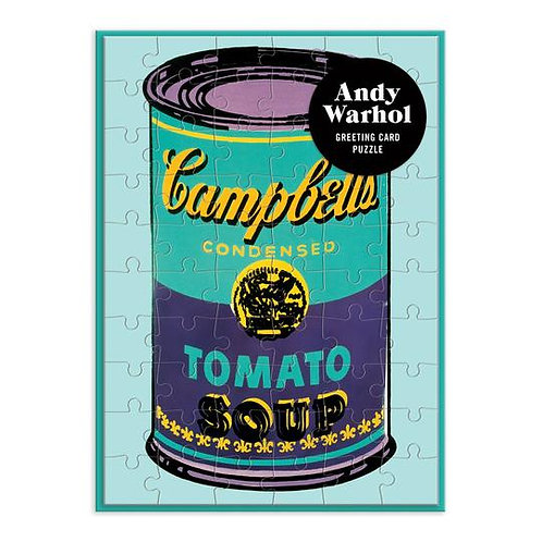 Andy Warhol Soup Can Greeting Card 60 Piece Puzzle