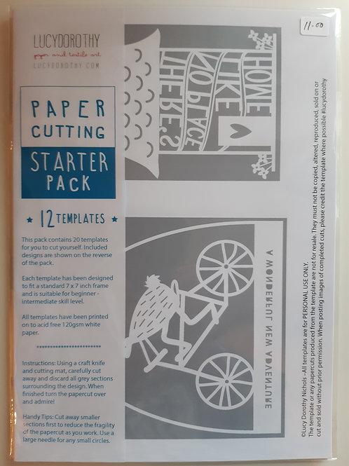 Paper Cutting Starter Template Pack (12)