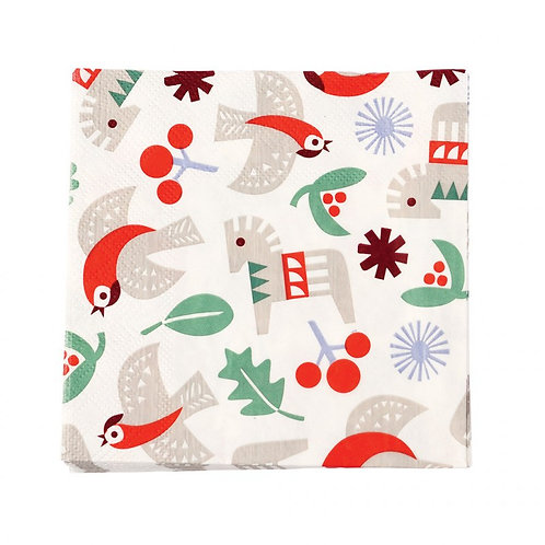 Nordic Christmas Cocktail Napkins: Pack of 20