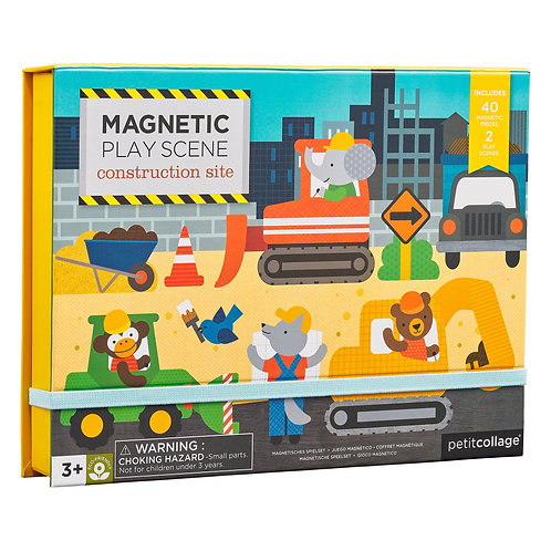 Magnetic Play Scene: Construction Site