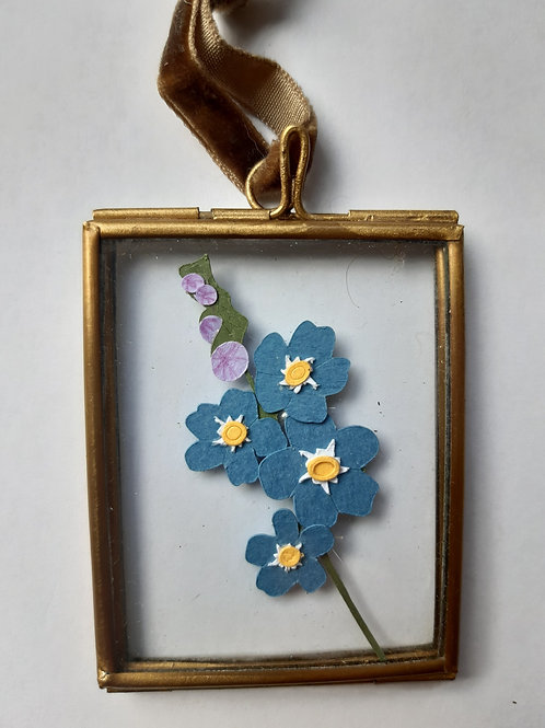 Forget Me Not 2 Paper Cut Mini Frame