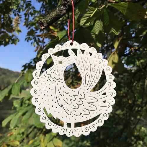 Letterpress Cut Out Decoration: Bird