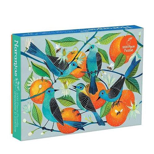 Birds and Oranges 1000 Piece Puzzle