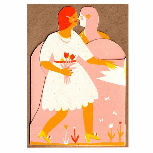 Mrs & Mrs Concertina Card