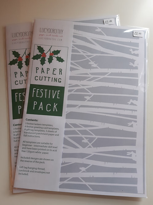 Festive Paper Cutting Template Pack