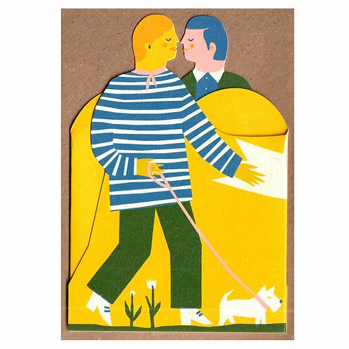 Mr & Mr Concertina Card