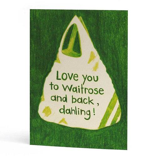 'Waitrose' Valentines Card