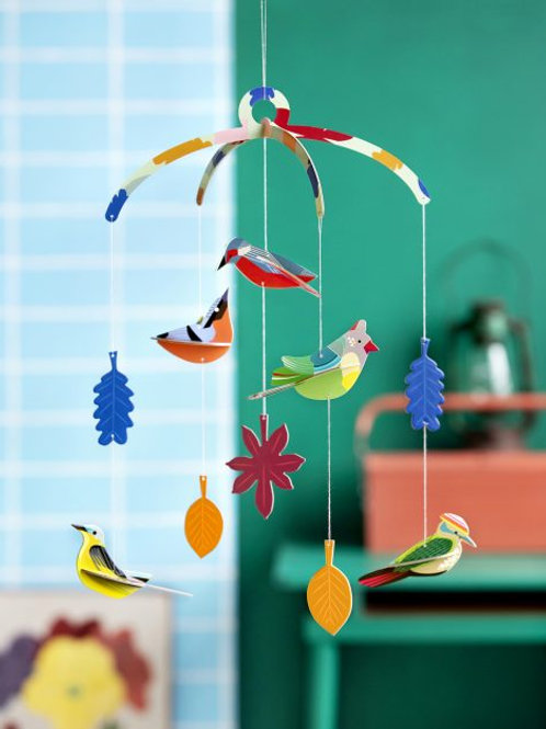 Garden Bird Mobile