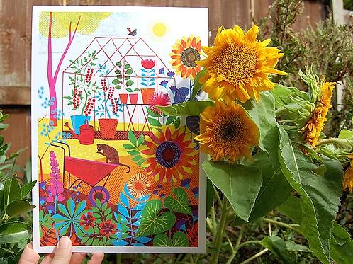 Greenhouse A4 Art Print