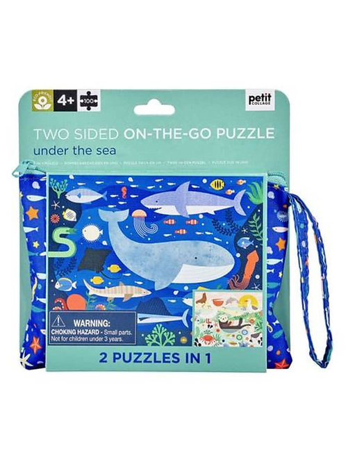Double-sided On The Go Puzzle: Under The Sea