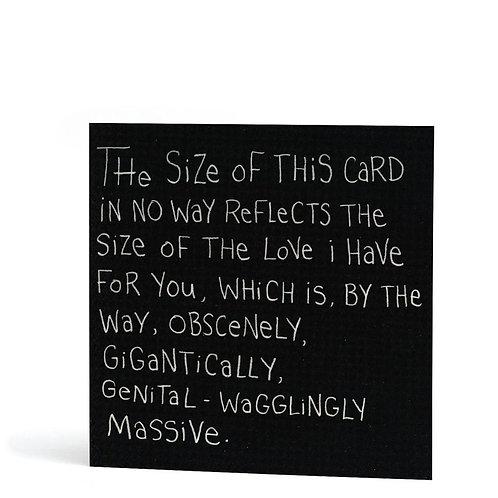'Genital-Wagglingly Massive' Card