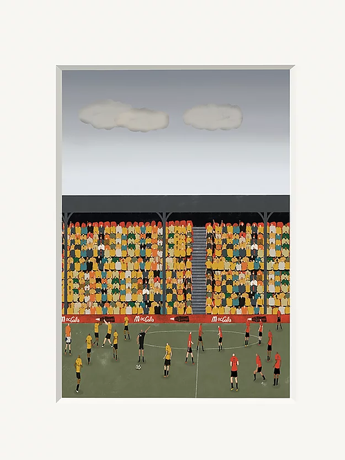 Kick Off A4 Art Print
