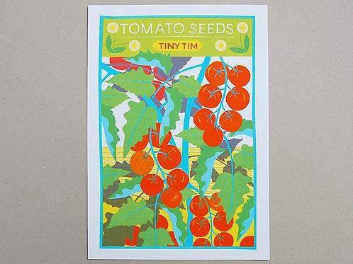 Tomato Seeds A4 Risograph Print