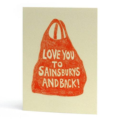 'Sainsburys' Valentines Card