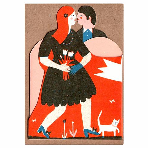 Mr & Mrs Concertina Card
