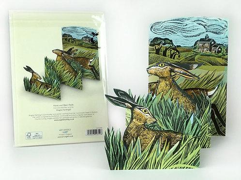 Hares & Open Fields Card