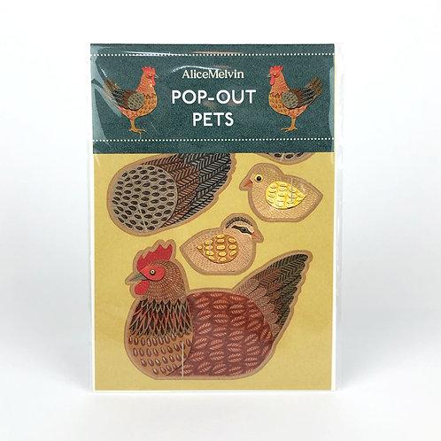 Pop Out Hen Card