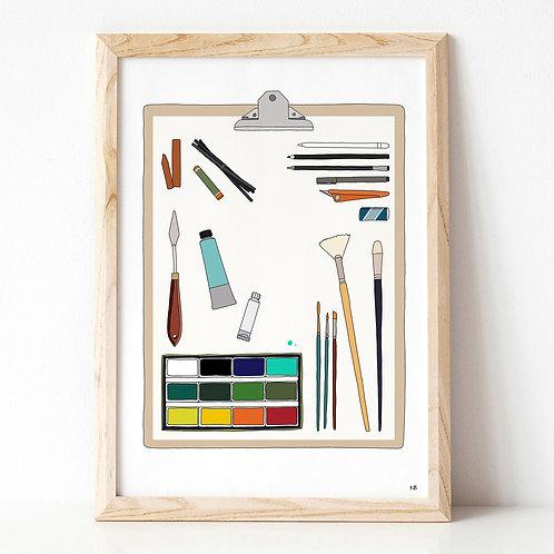 Art Materials A3 Print