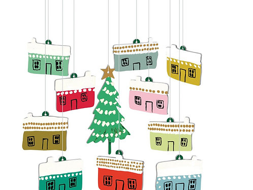 Little Houses Hanging Decorations