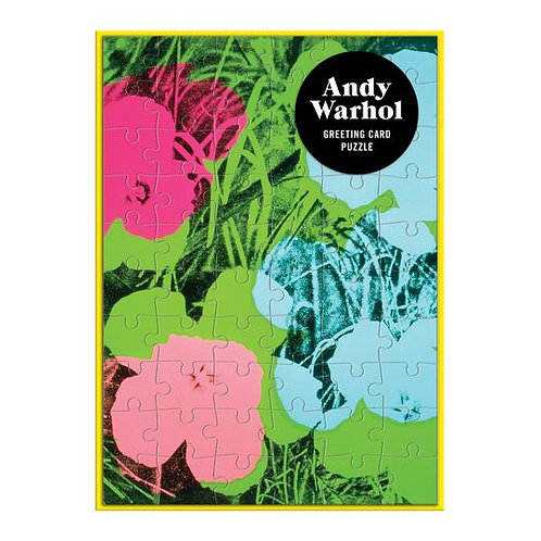 Andy Warhol Flowers Greeting Card 60 Piece Puzzle